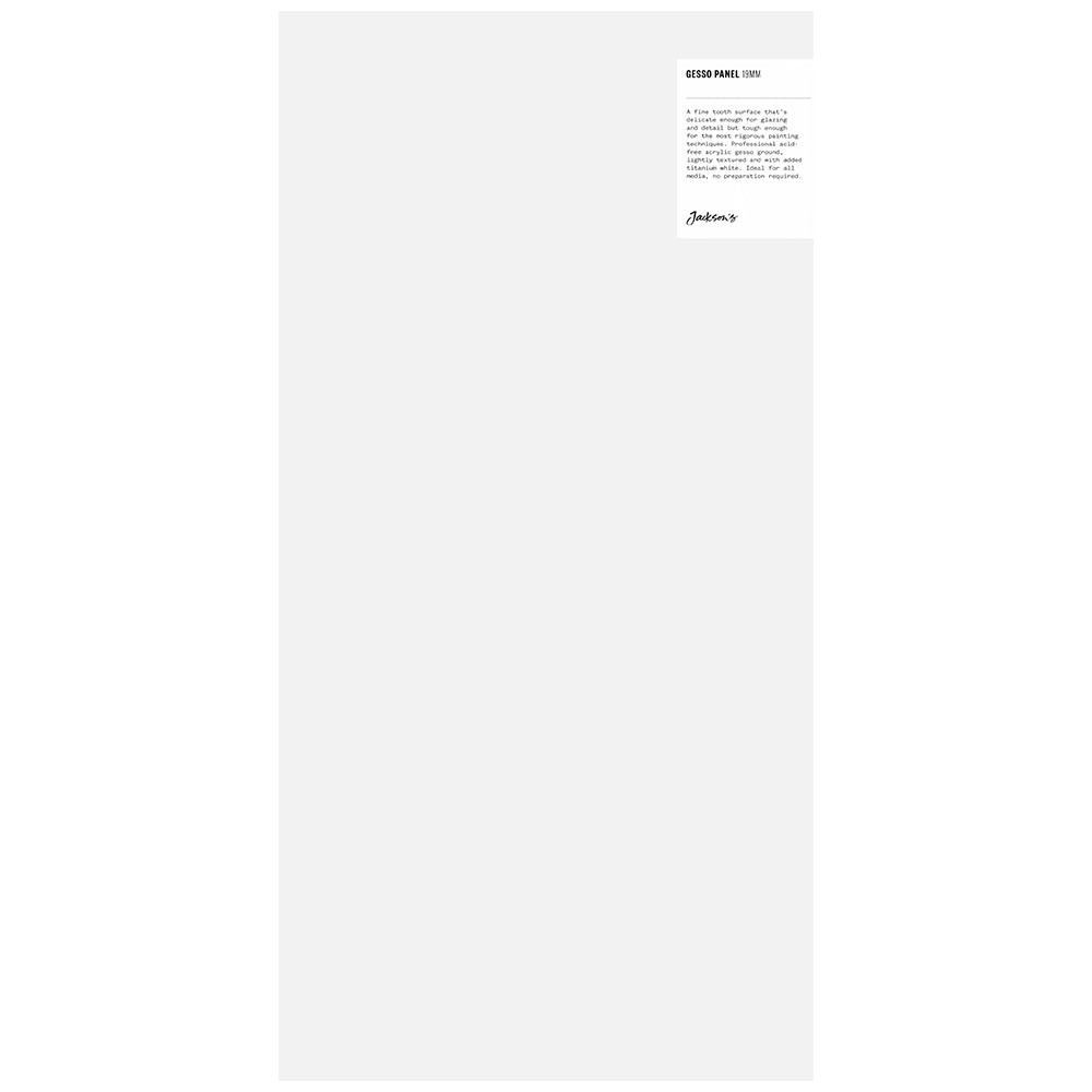 Jackson's : 19mm White Gesso Cradled Painting Panel : 10x20in