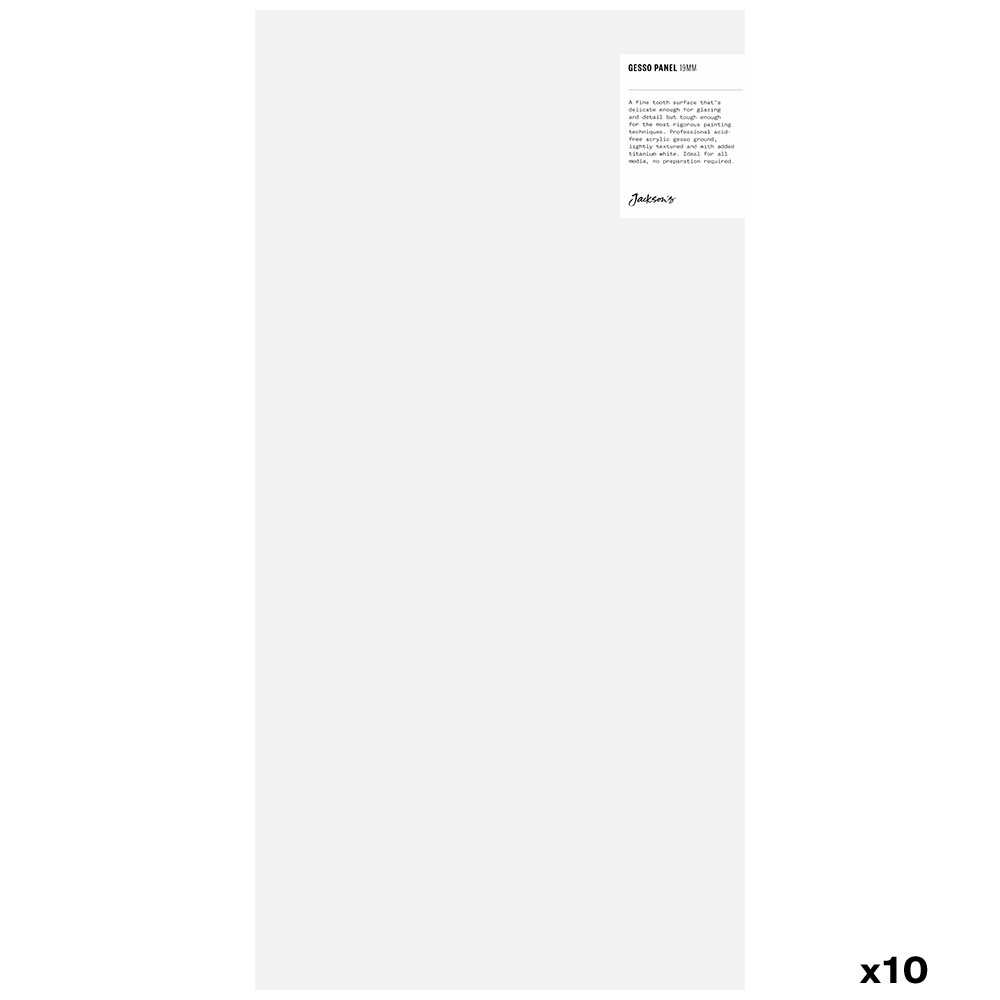 Jackson's : 19mm White Gesso Cradled Painting Panel : 10x20in : Box of 10