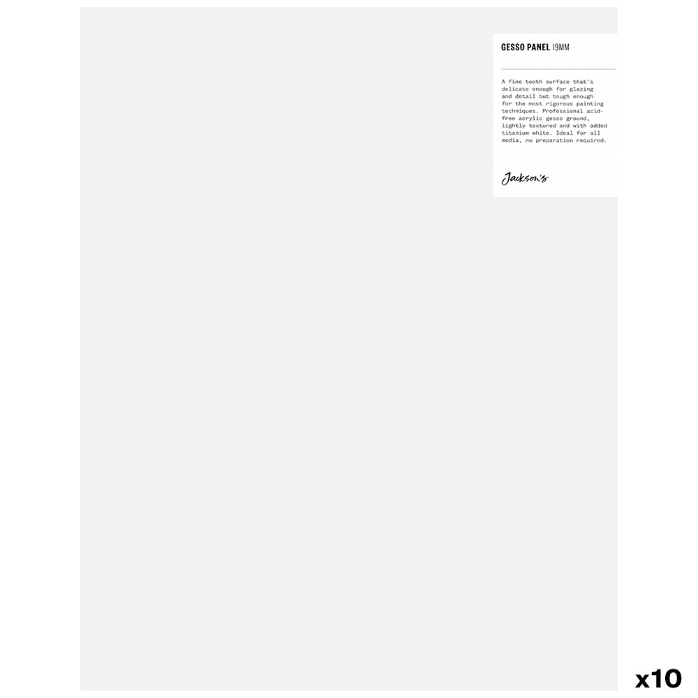 Jackson's : 19mm White Gesso Cradled Painting Panel : 11x14in : Box of 10