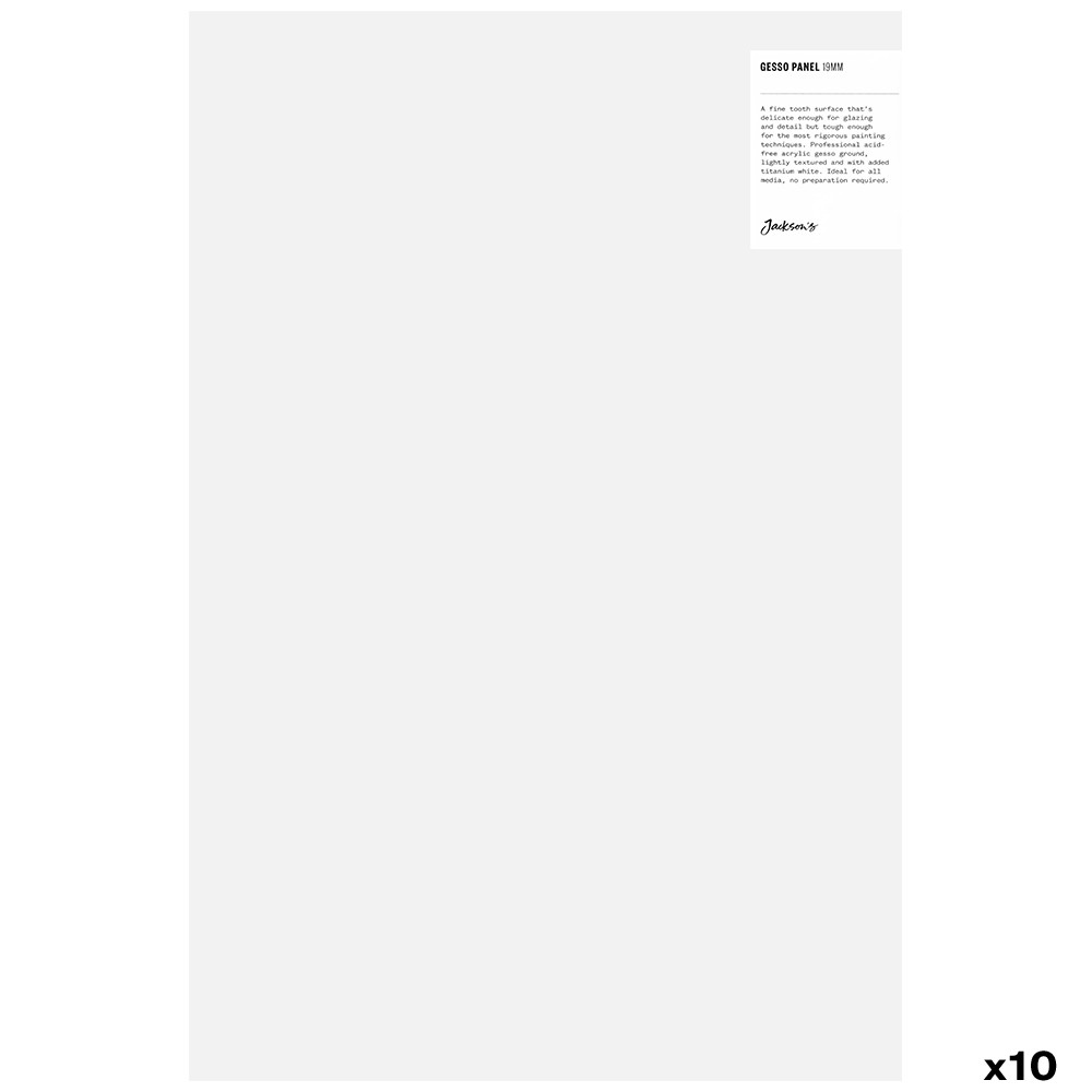 Jackson's : 19mm White Gesso Cradled Painting Panel : 12x18in : Box of 10