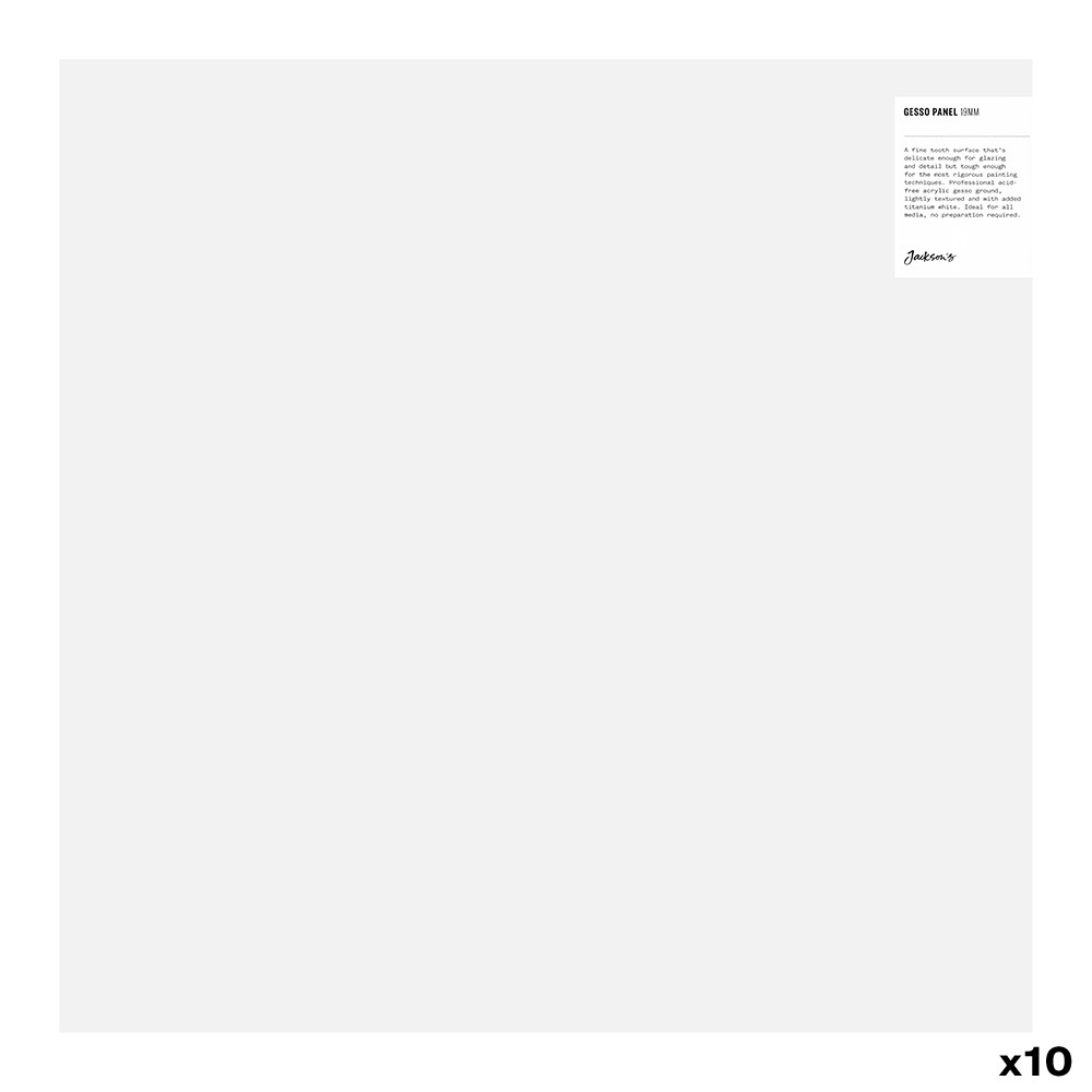 JAS : 19mm White Gesso Cradled Painting Panel : 18x18in : Box of 10