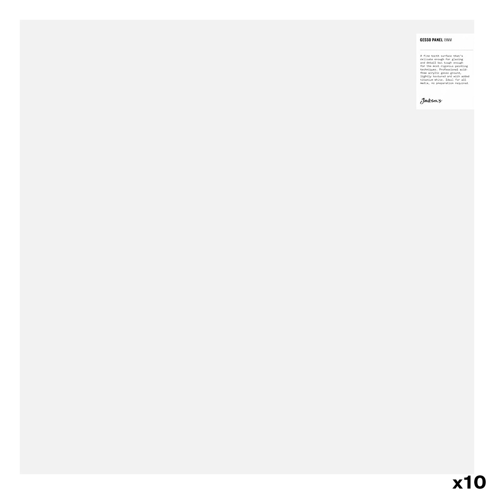 JAS : 19mm White Gesso Cradled Painting Panel : 20x20in : Box of 10