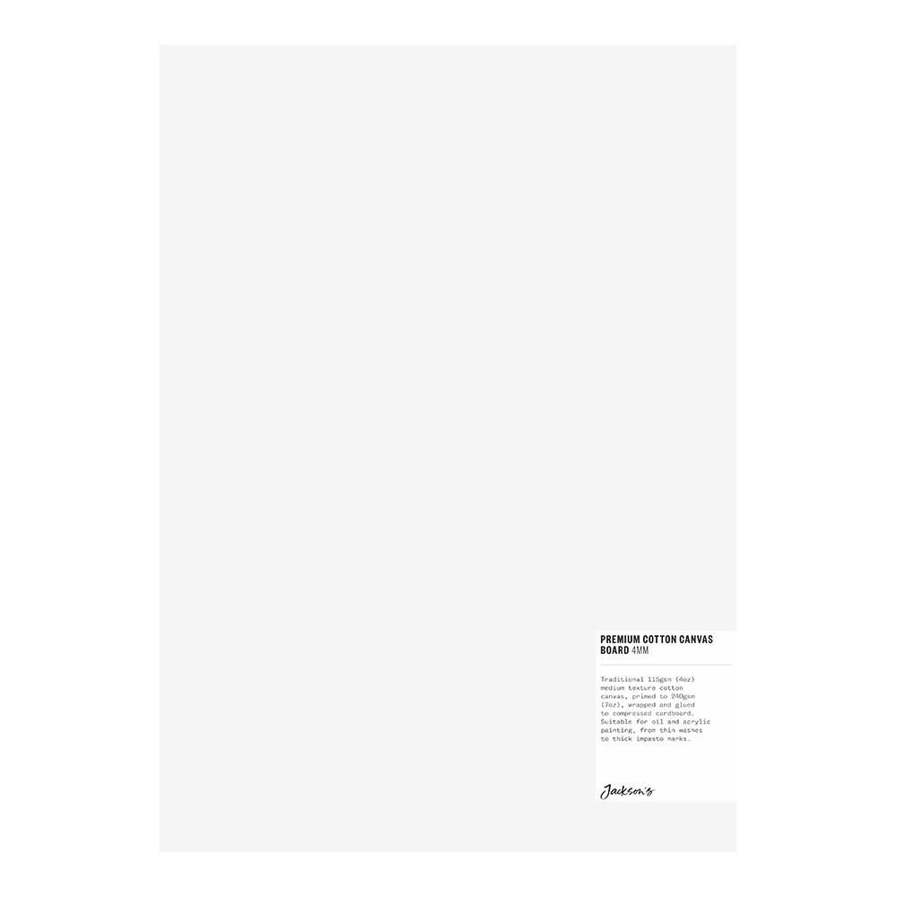 Jackson's : Single : Premium Cotton Canvas Art Board 4mm : 10x14in (Apx.25x35cm)