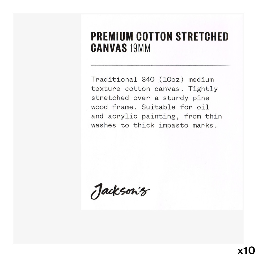 Jackson's : Box of 10 : Premium Cotton Canvas : 10oz 19mm Profile 10x10cm (Apx.4x4in)