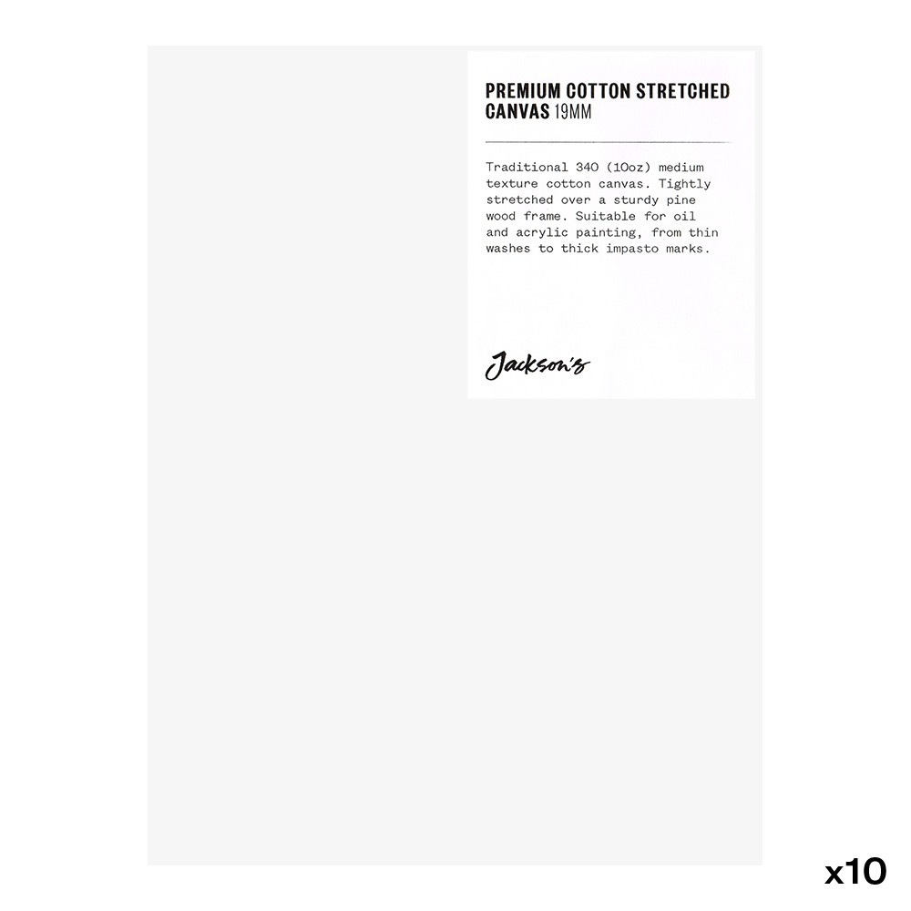 Jackson's : Box of 10 : Premium Cotton Canvas : 10oz 19mm Profile 15x20cm (Apx.6x8in)