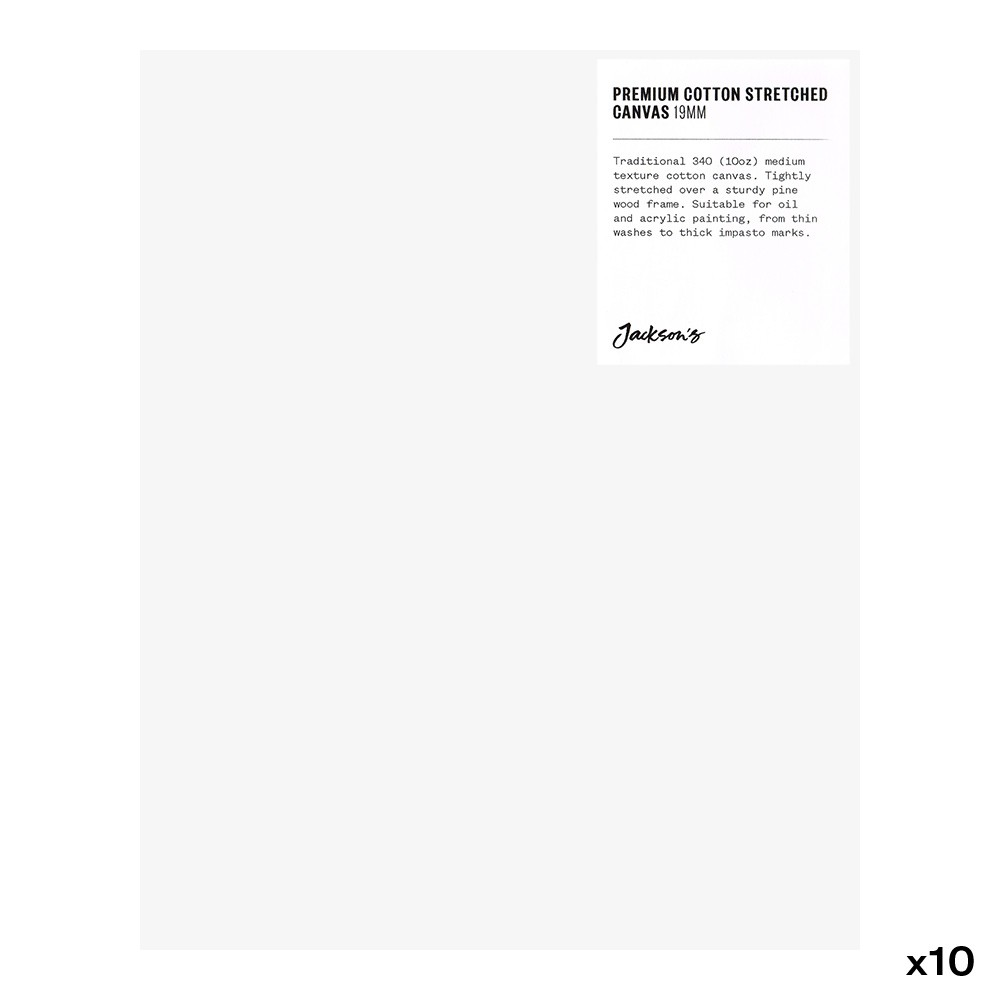 Jackson's : Box of 10 : Premium Cotton Canvas : 10oz 19mm Profile 20x25cm (Apx.8x10in)