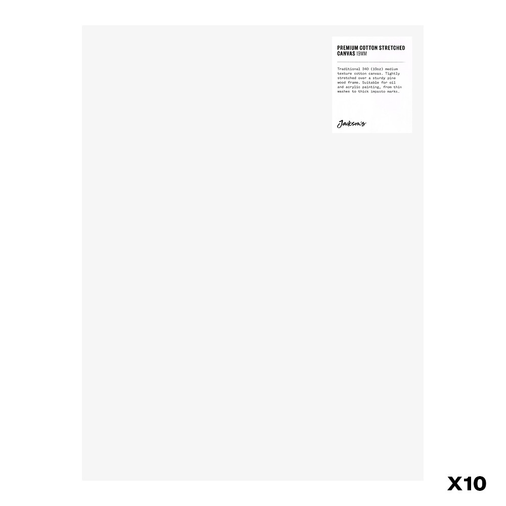 Jackson's : Box of 10 : Premium Cotton Canvas : 10oz 19mm Profile 30x40cm (Apx.12x16in)