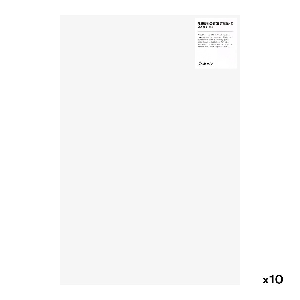 Jackson's : Box of 10 : Premium Cotton Canvas : 10oz 19mm Profile 30x45cm (Apx.12x18in)
