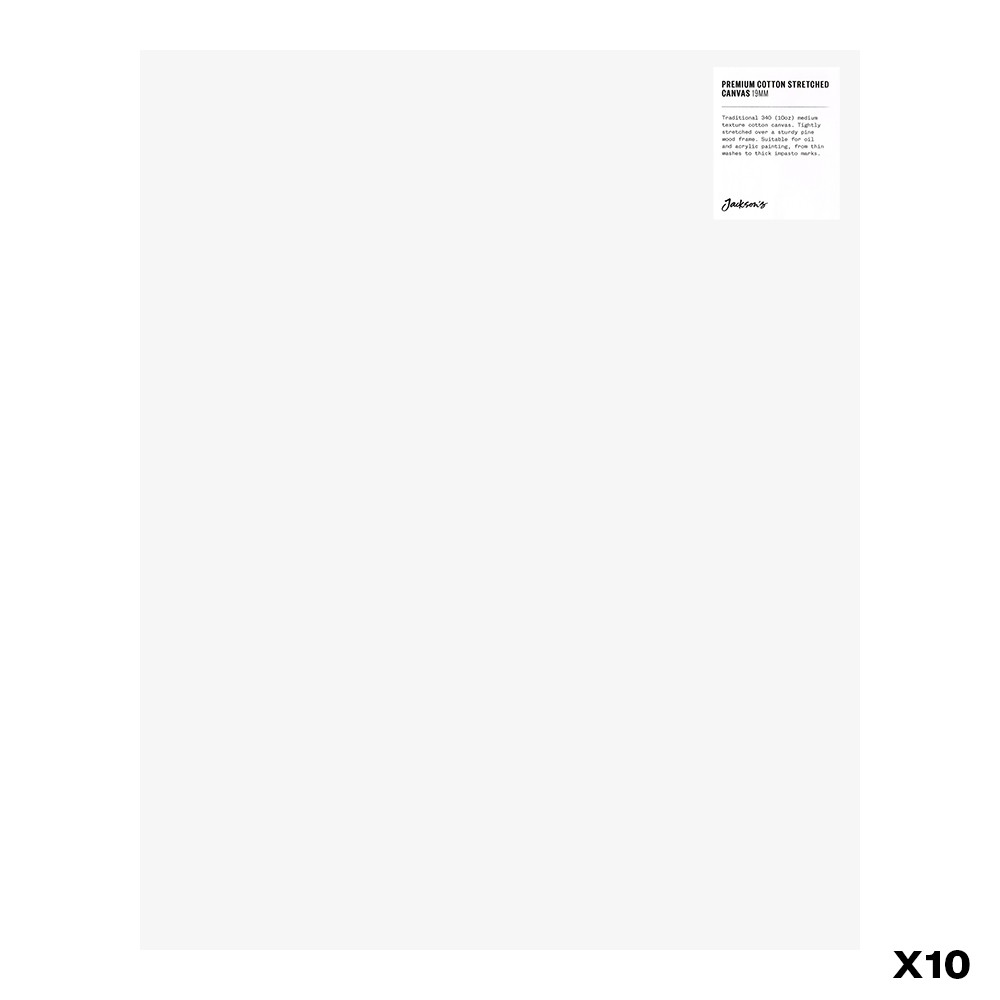 Jackson's : Box of 10 : Premium Cotton Canvas : 10oz 19mm Profile 40x50cm (Apx.16x20in)