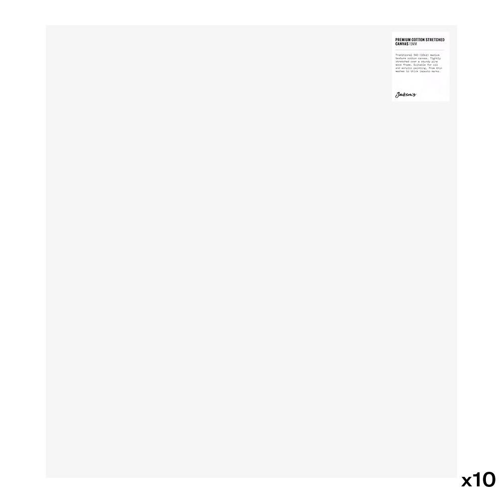 Jackson's : Box of 10 : Premium Cotton Canvas : 10oz 19mm Profile 50x55cm (Apx.20x22in)