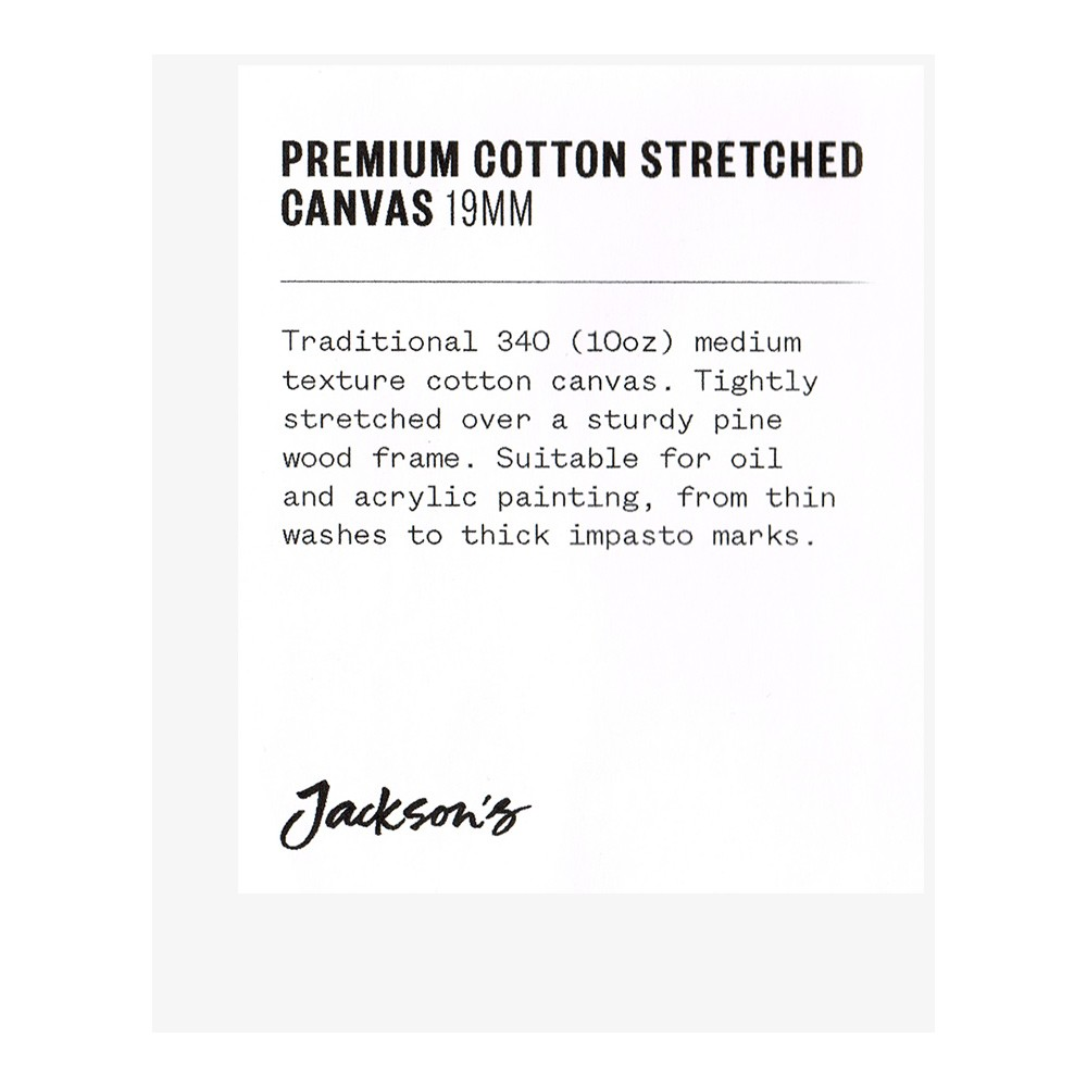 Jackson's : Single : Premium Cotton Canvas : 10oz 19mm Profile 8x10cm (Apx.3x4in)