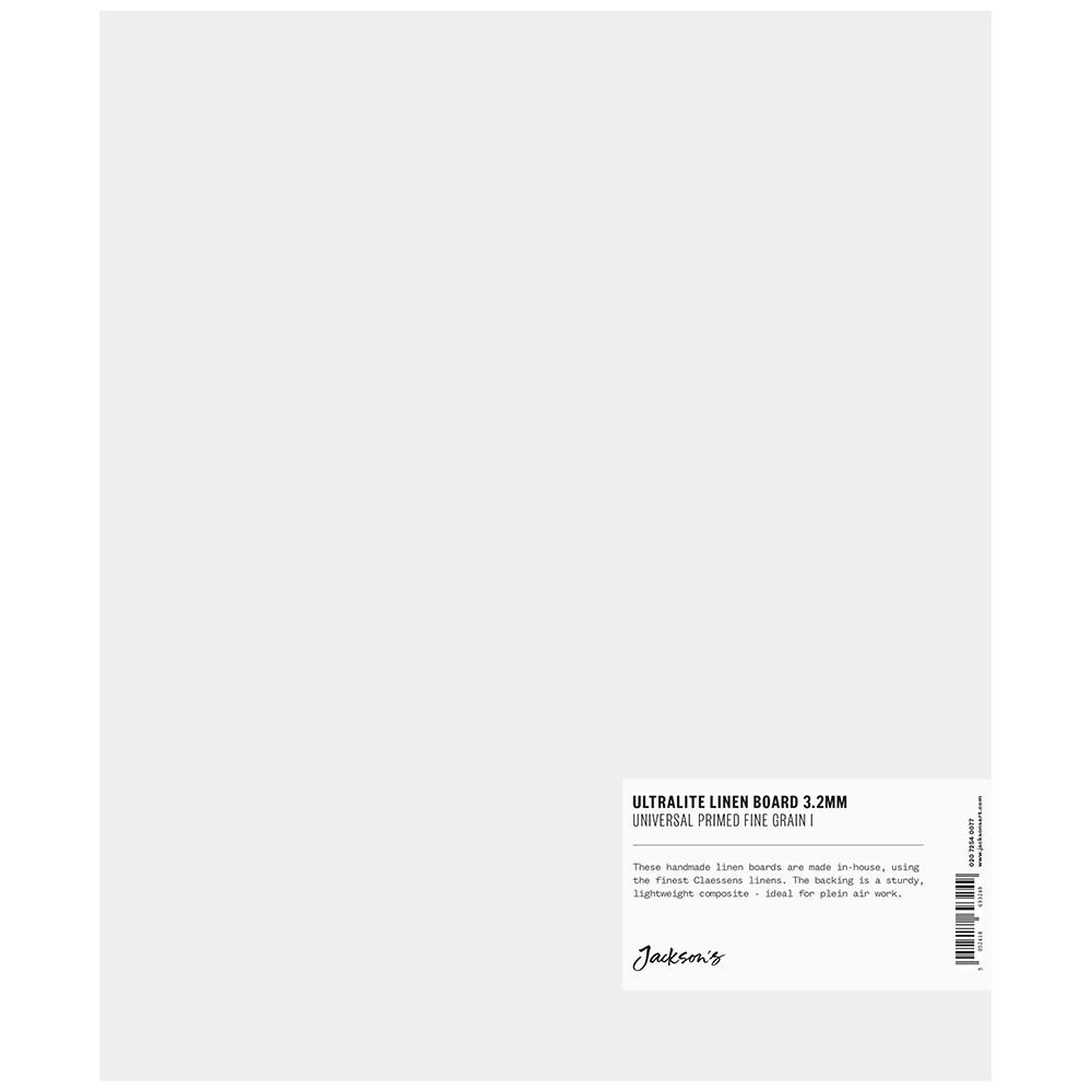 Jackson's : 3.2mm : Ultralite Linen Board : 10x12in : Claessens 109 Fine Linen Surface : Universal Primed : 363gsm
