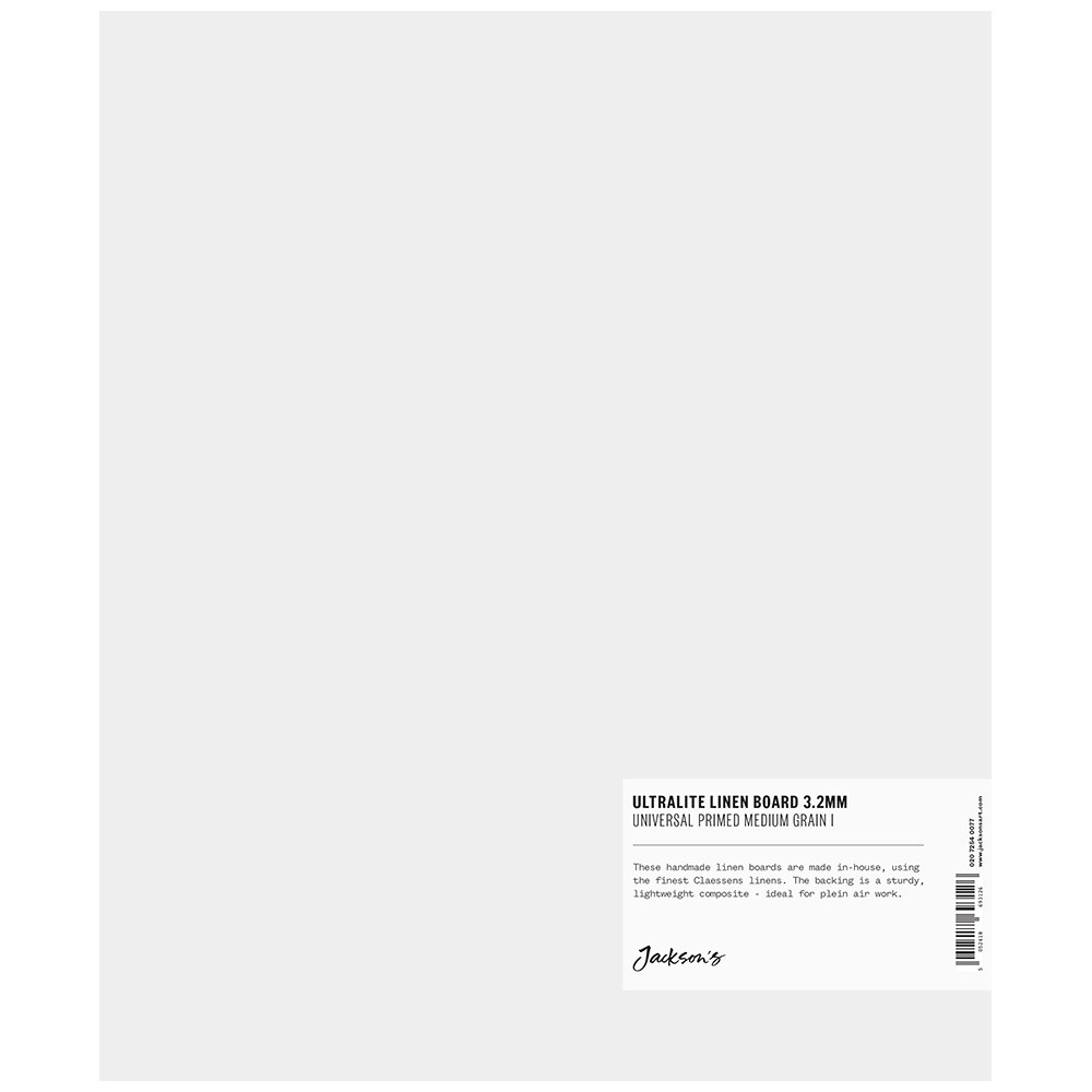 Jackson's : 3.2mm : Ultralite Linen Board : 10x12in : Claessens 166 Medium Surface : Universal Primed : 415gsm