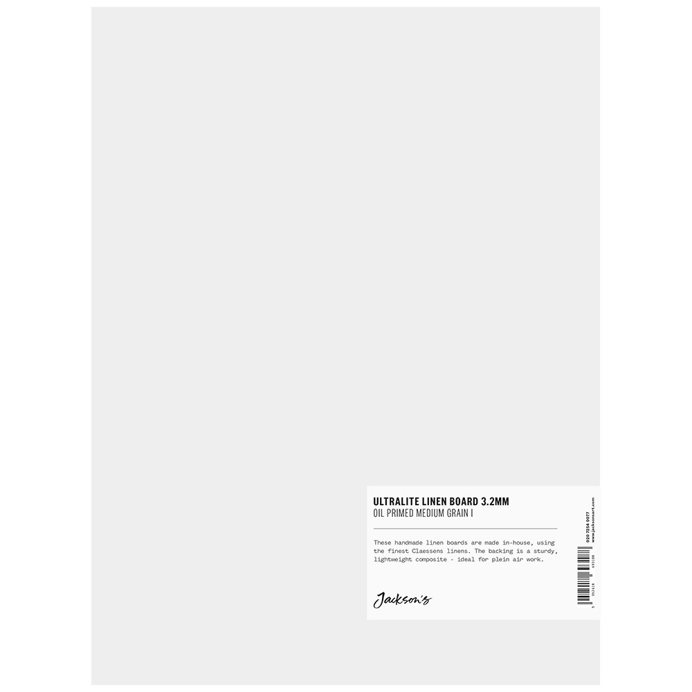 Jackson's : 3.2mm : Ultralite Linen Board : 9x12in : Claessens 66 Medium Surface : Oil Primed : 460gsm