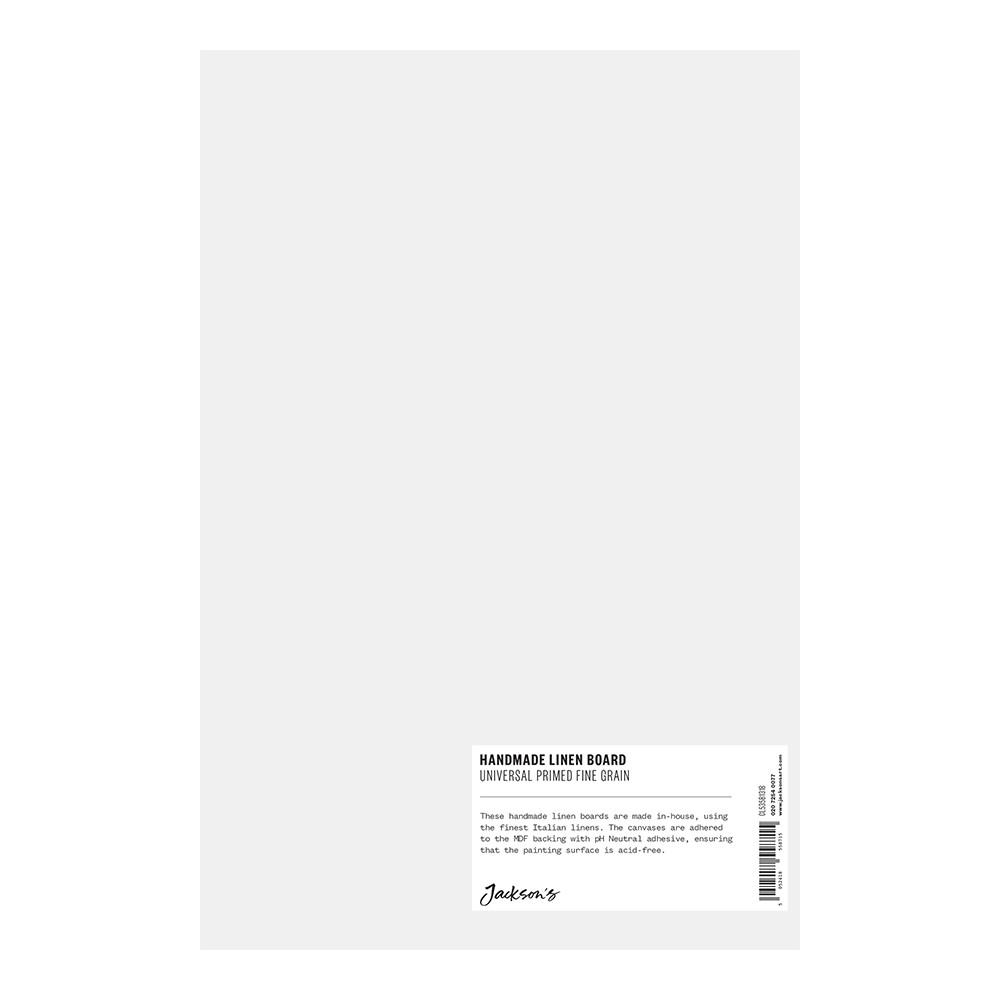 Jackson's : Handmade Boards : Universal Primed Fine Linen CL535 on MDF Board : 20x30cm
