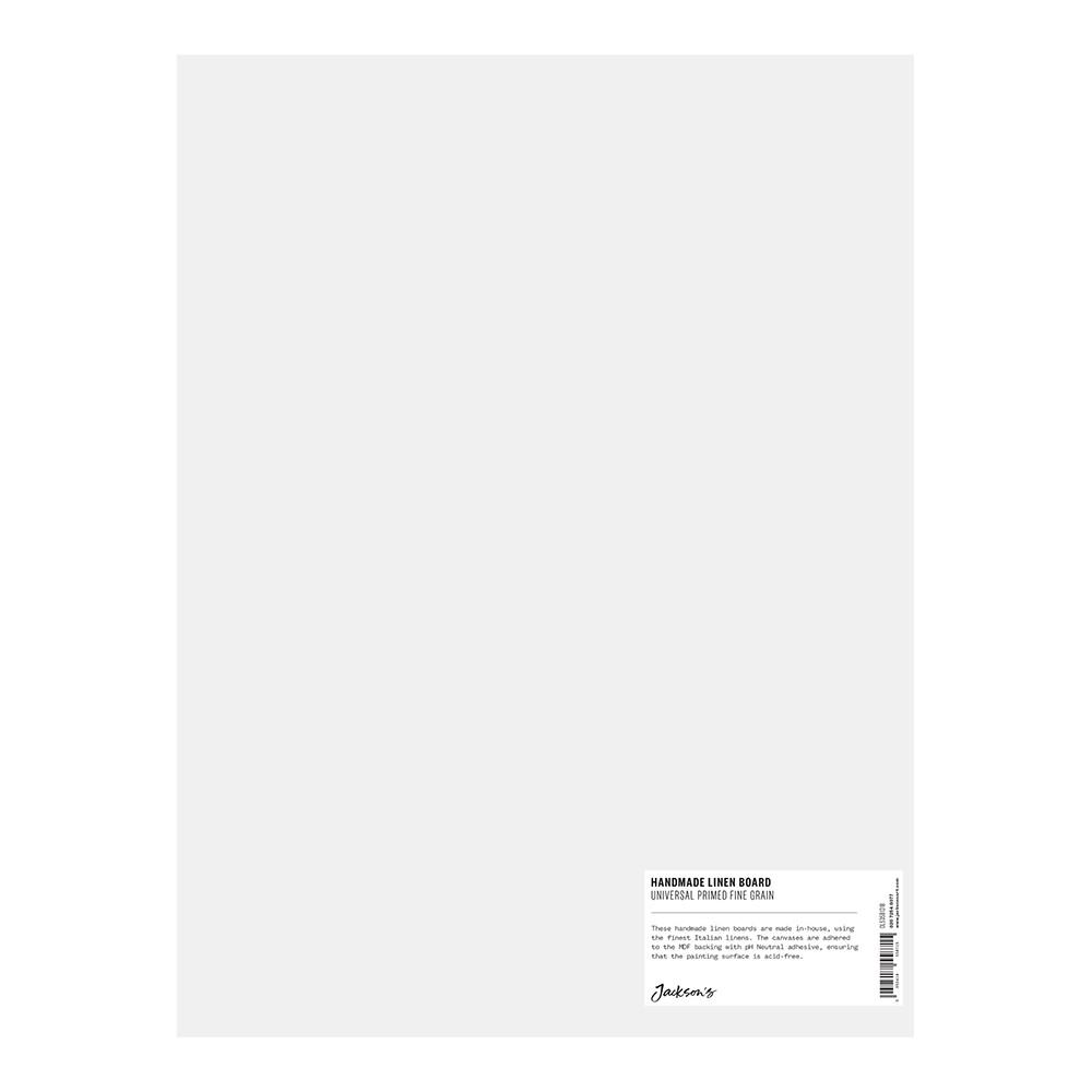 Jackson's : Handmade Boards : Universal Primed Fine Linen CL535 on MDF Board : 30x40cm