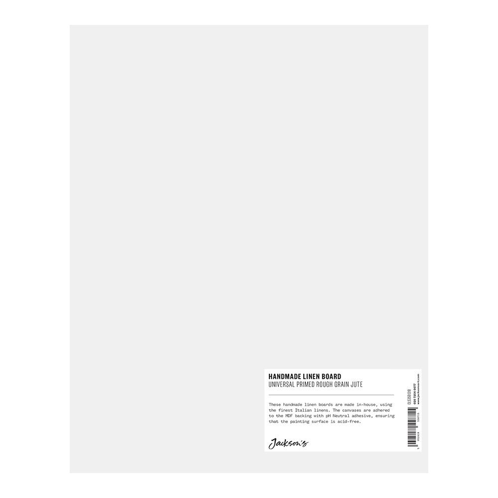 Jackson's : Handmade Board : Universal Primed Rough Jute CL565 on MDF Board : 24x30cm
