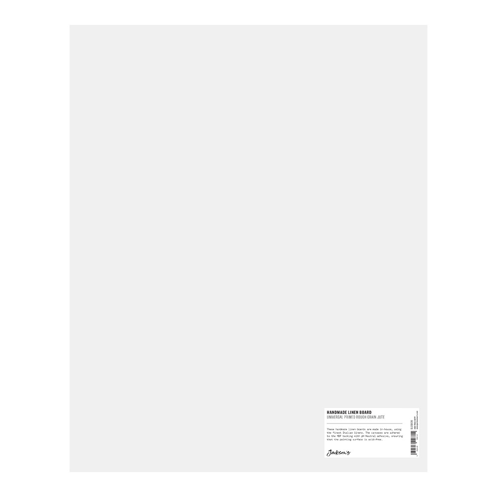 Jackson's : Handmade Boards : Universal Primed Rough Jute CL565 on MDF Board : 40x50cm