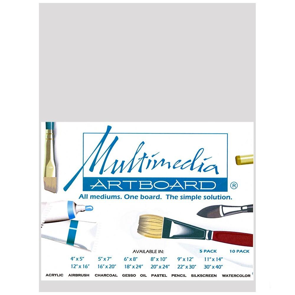 Multimedia Artboard : Pastel Artist Panel : Sample : 0.8 mm : 320 Grit : 6x8in : Light Grey