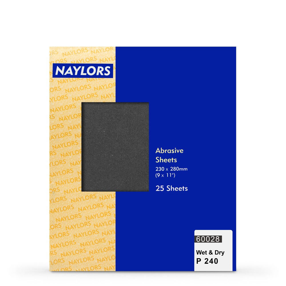 Naylor : 25 Sheets Wet & Dry Grade : 240