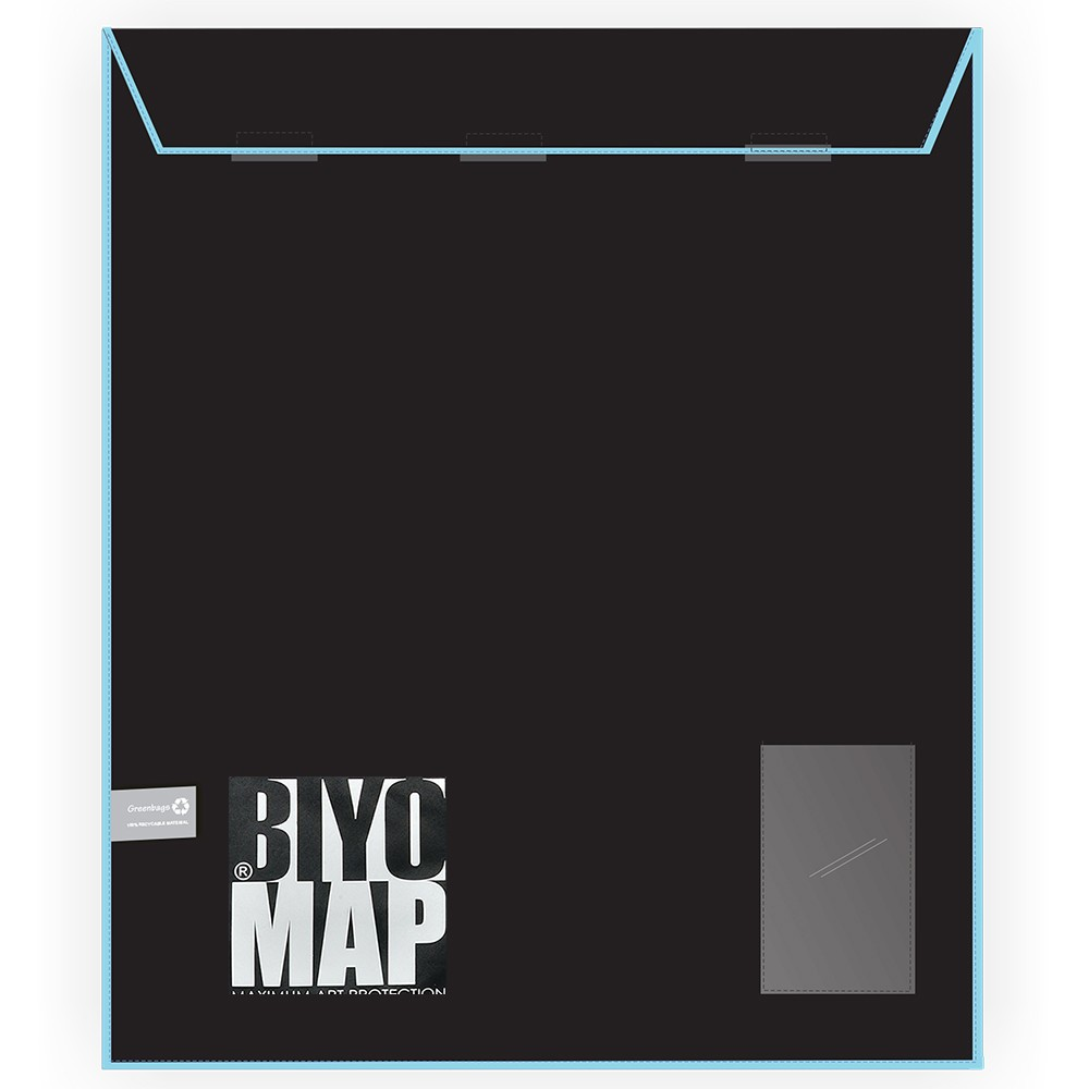 Biyomap : Reusable Artwork Shipping and Storage Bag : 40x50cm (Light Blue)