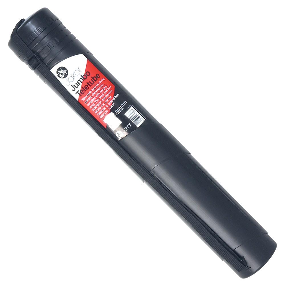 Jakar : 69-123cm Black Extendible Teletube Carrier with strap 10.5cm diameter