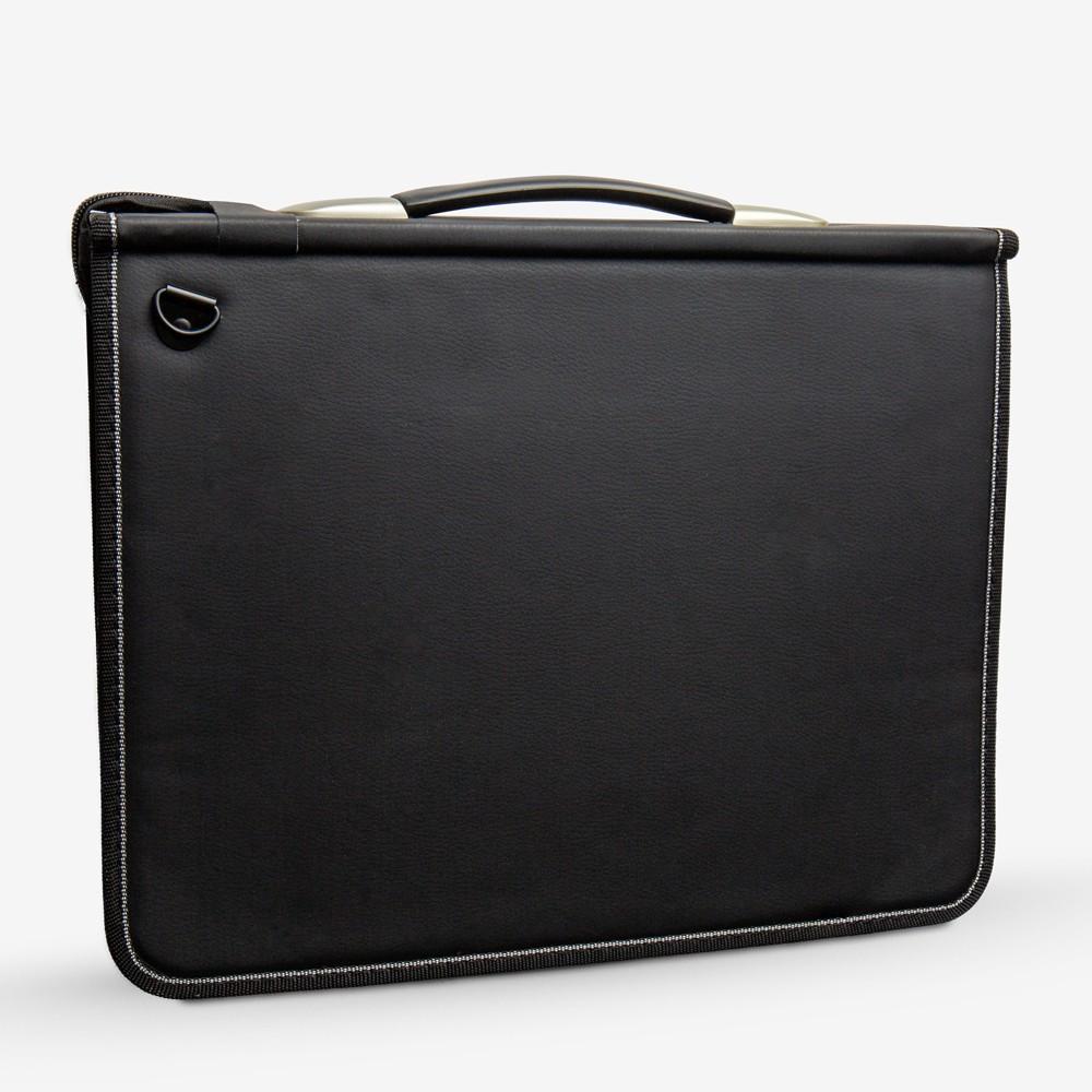 Mapac : A4 Premier MAXI Portfolio 70mm Gusset : strong ring mechanism