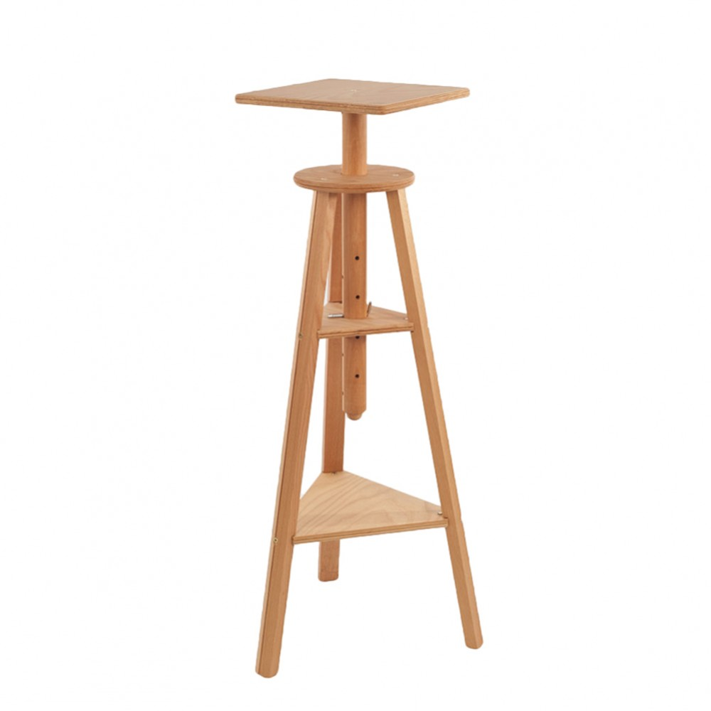 Mabef : M36 Sculpture Stand Height 39 To 51in. Beechwood Max Load 55lb