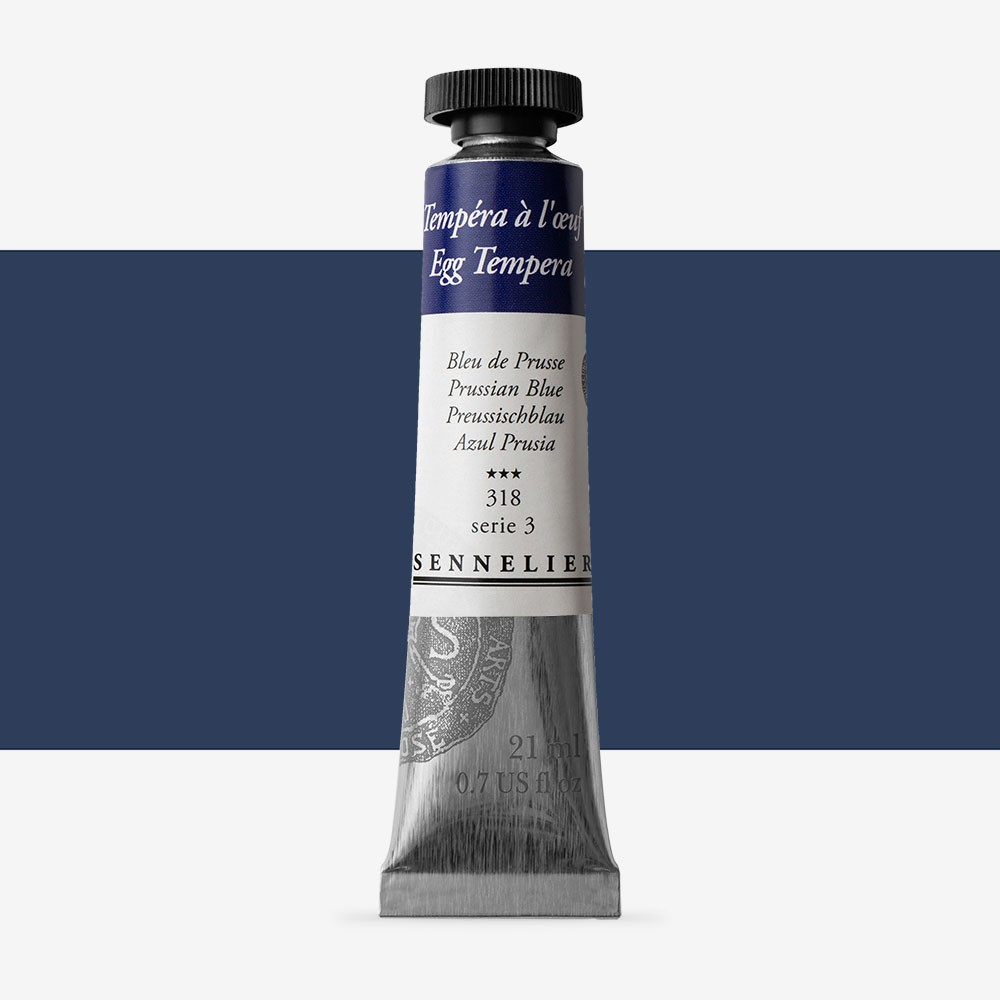 Sennelier : Egg Tempera Paint : 21ml : Prussian Blue