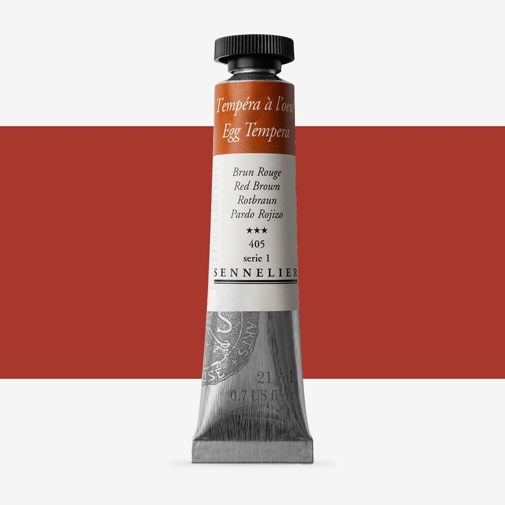 Sennelier : Egg Tempera Paint : 21ml : Red Brown