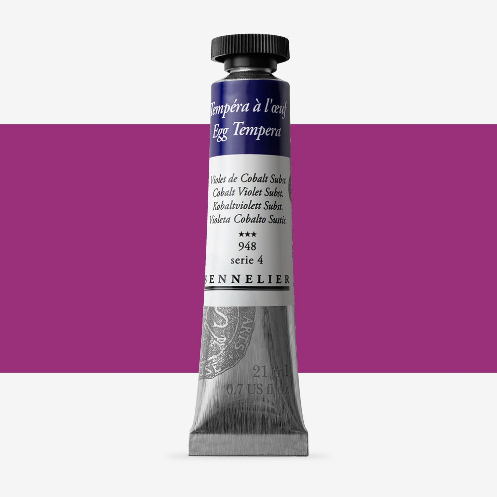 Sennelier : Egg Tempera Paint : 21ml : Cobalt Violet Hue