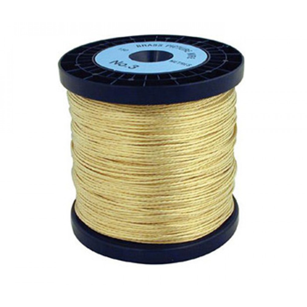 Hanging and Framing Hardware : 2m Picture Wire : Brass : Holds 11kg Max