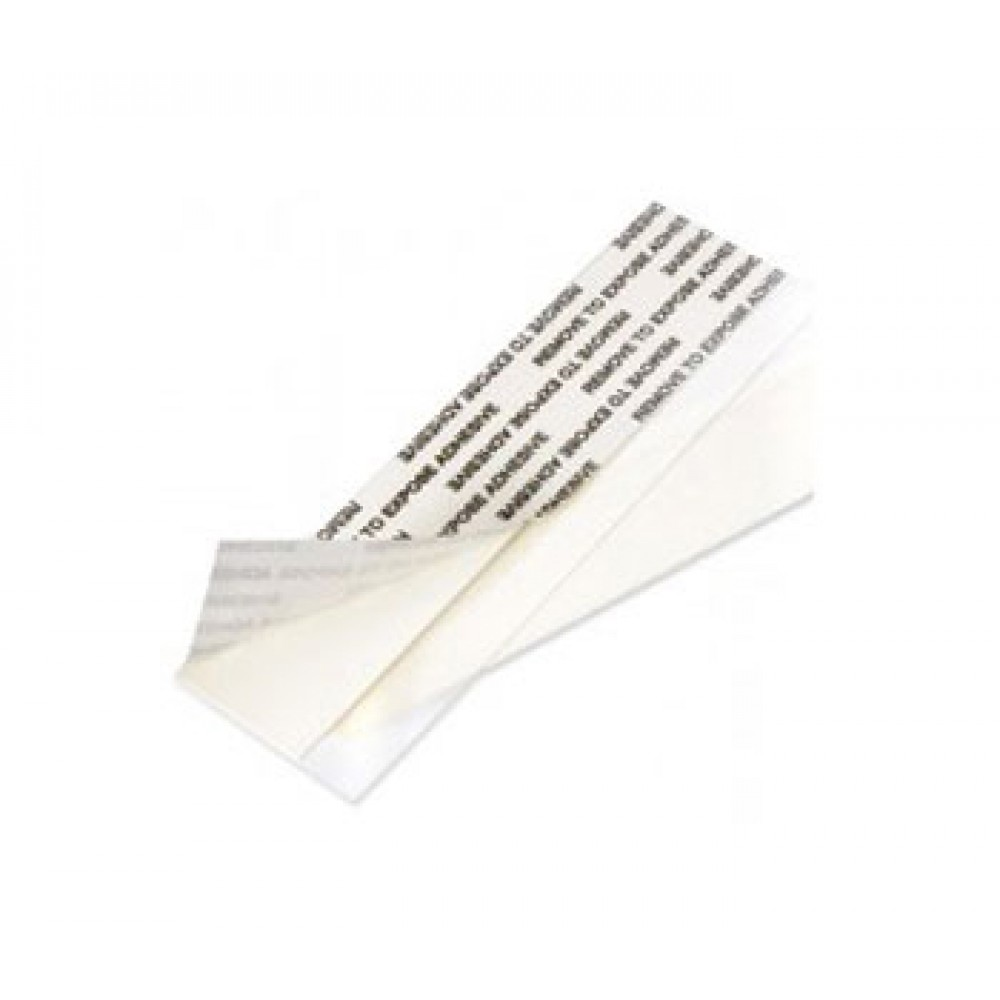 Crescent : Mounting Strips 100mm see through : Adhesive strip : Pack of 60 : Conservation