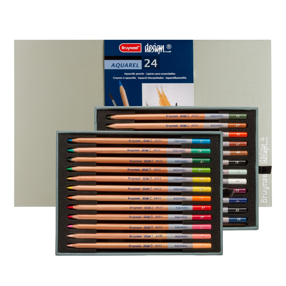 Bruynzeel : Design : Aquarel Pencil : Box of 24 : Assorted Colours