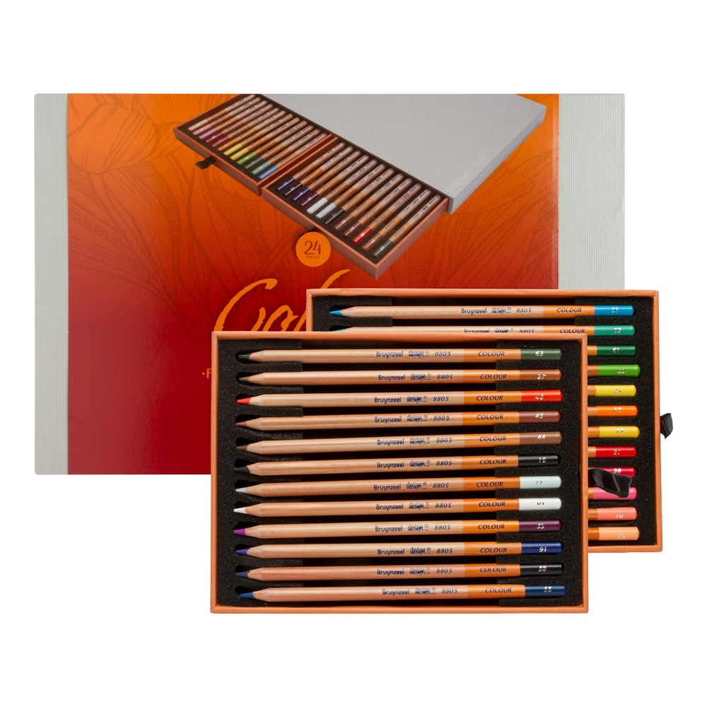 Bruynzeel : Design : Colour Pencil : Box of 24 : Assorted Colours