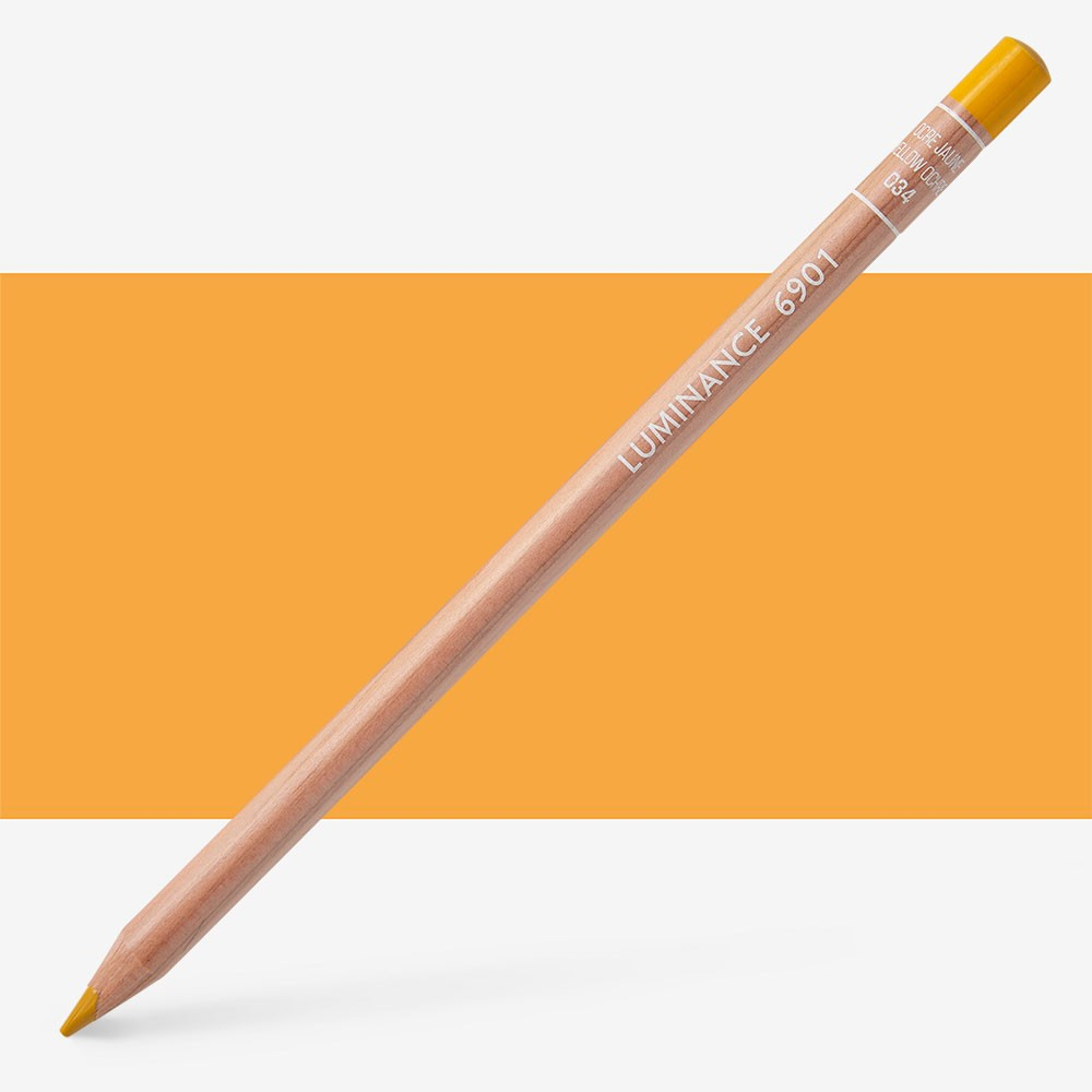 Caran d'Ache : Luminance 6901 : Colour Pencil : Yellow Ochre