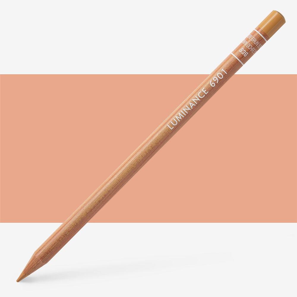 Caran d'Ache : Luminance 6901 : Colour Pencil : Brown Ochre 50%