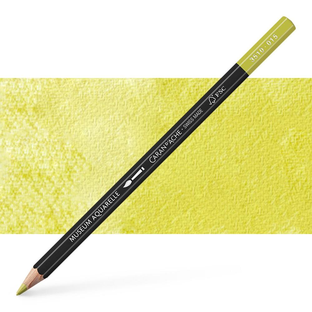 Caran d'Ache : Museum Aquarelle Pencil : Olive Yellow