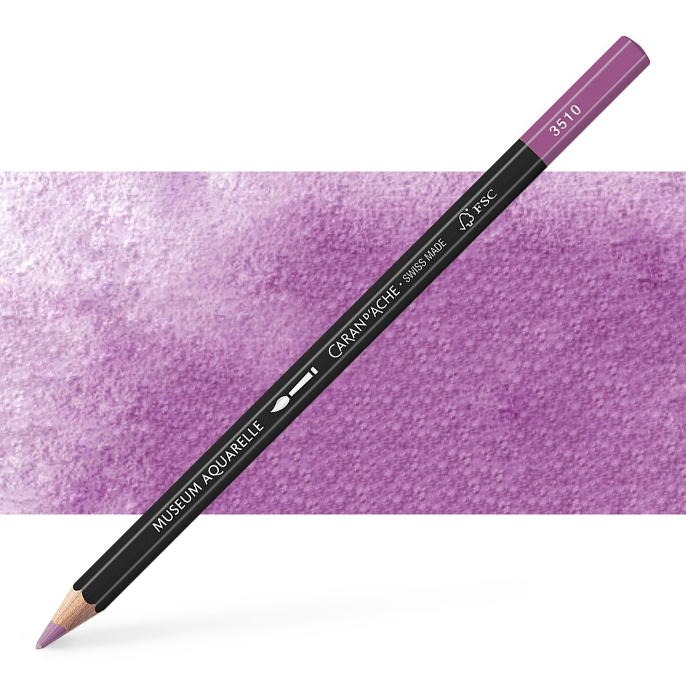 Caran d'Ache : Museum Aquarelle Pencil : Manganese Violet