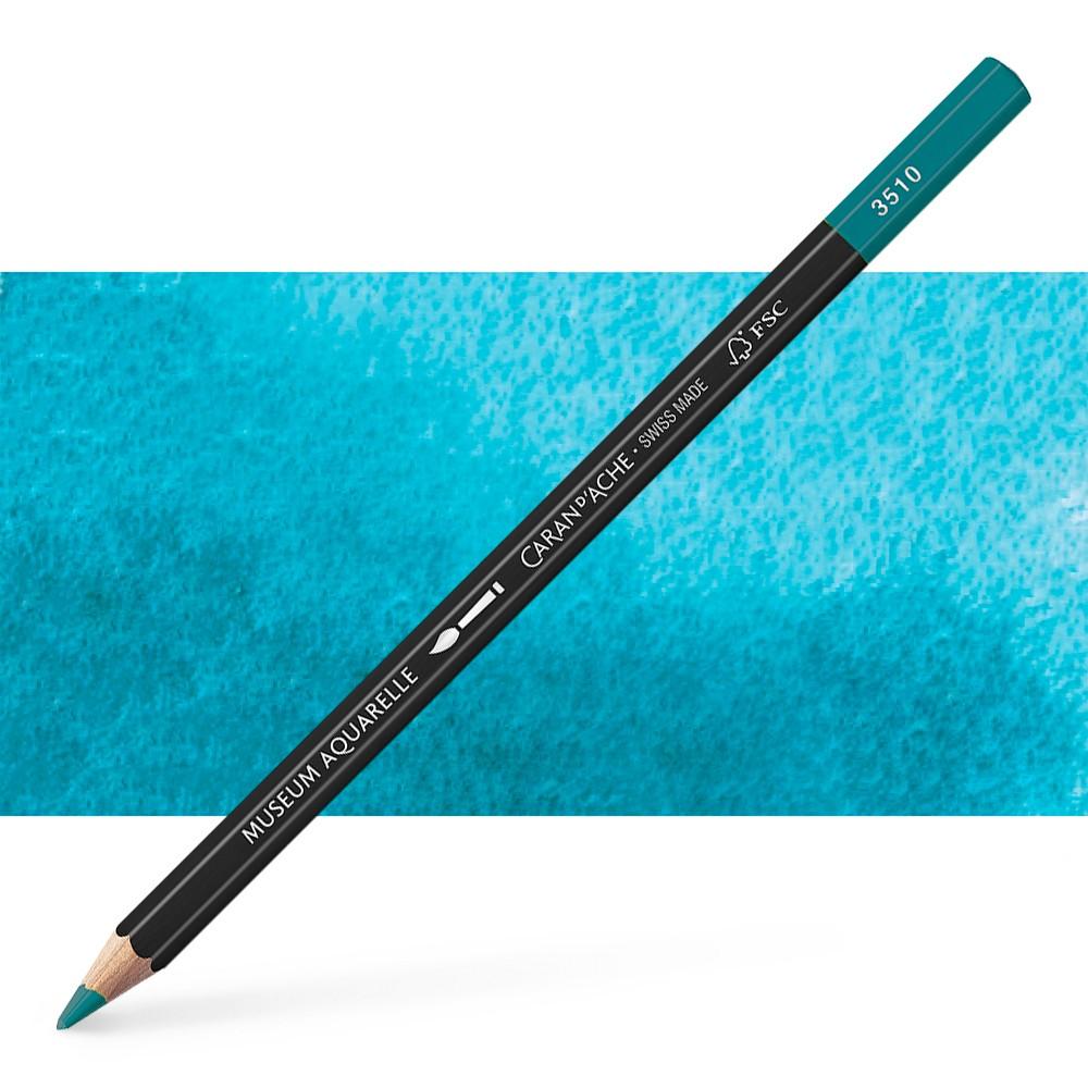 Caran d'Ache : Museum Aquarelle Pencil : Turquoise Blue