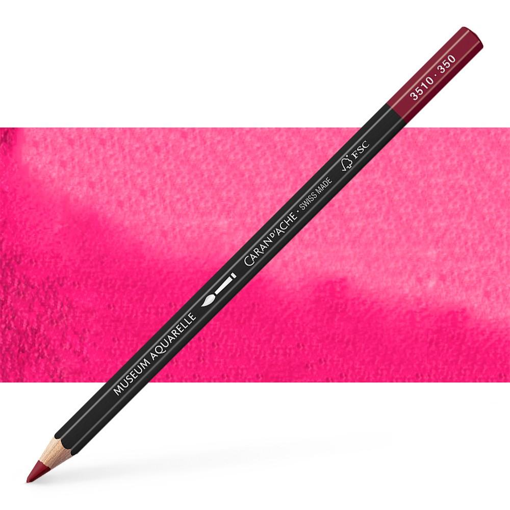 Caran d'Ache : Museum Aquarelle Pencil : Purplish Red