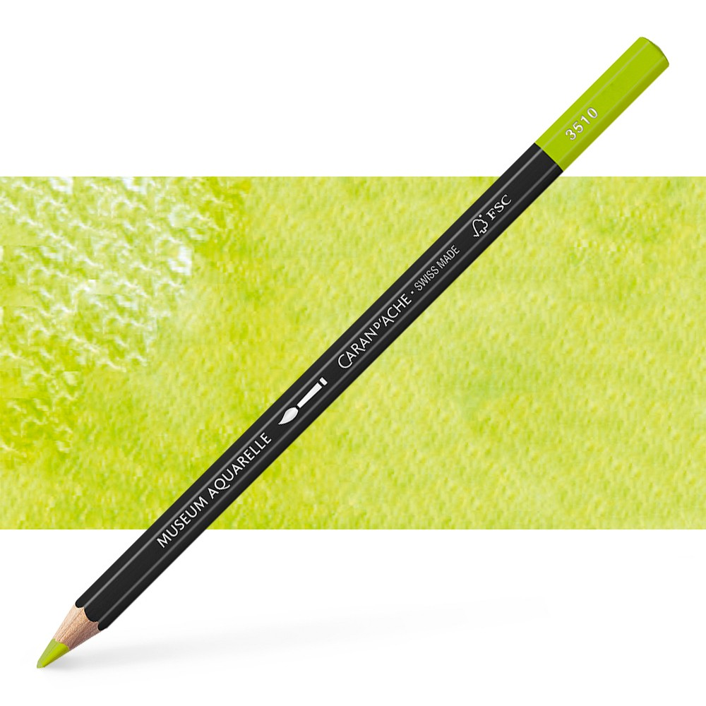 Caran d'Ache : Museum Aquarelle Pencil : Spring Green