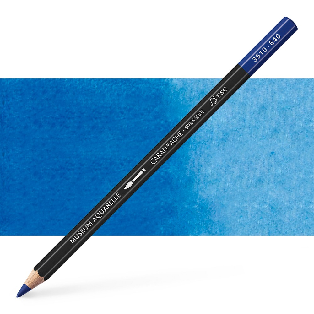 Caran d'Ache : Museum Aquarelle Pencil : Dark Ultramarine