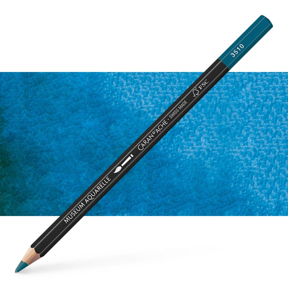 Caran d'Ache : Museum Aquarelle Pencil : Permanent Blue