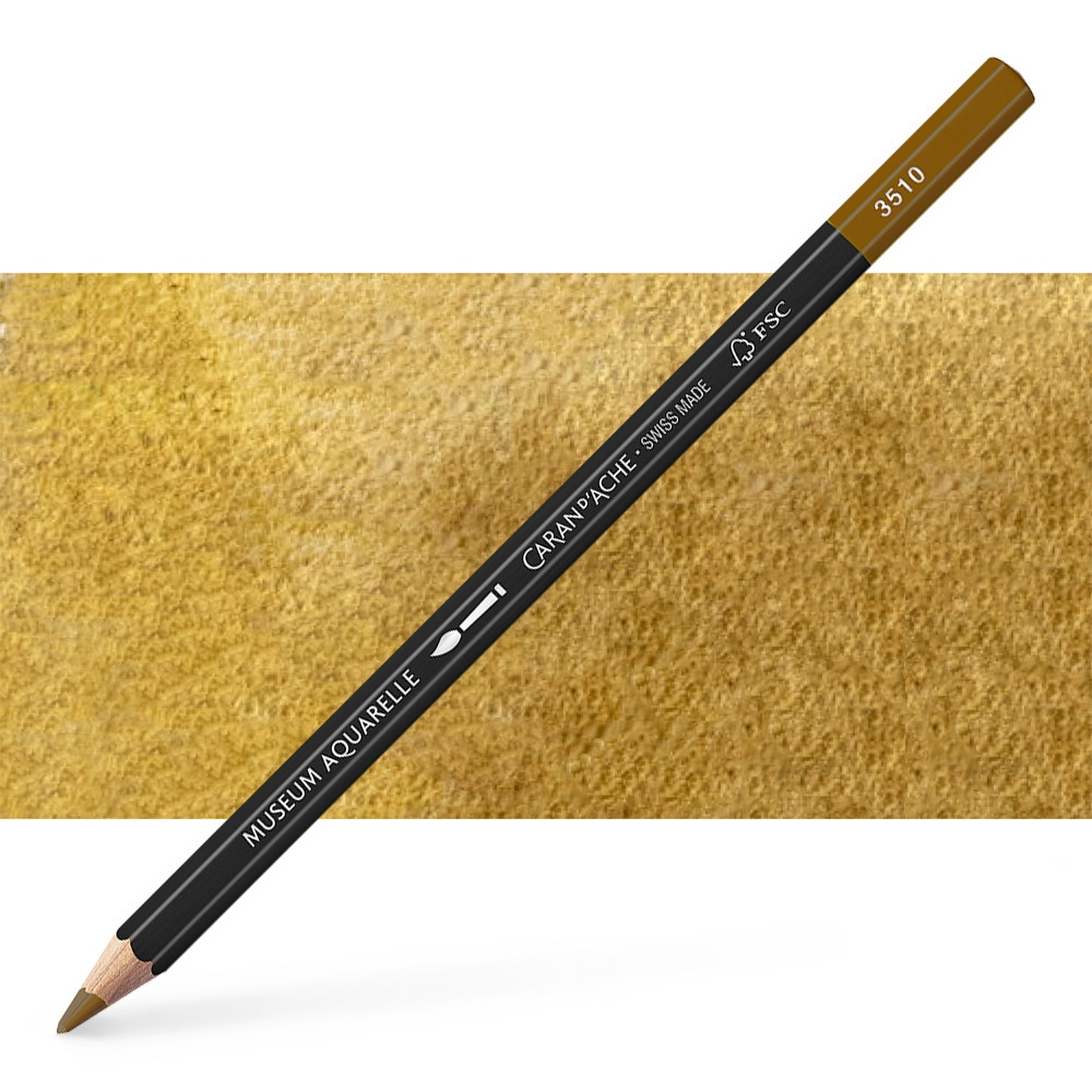 Caran d'Ache : Museum Aquarelle Pencil : Brown Olive 50%