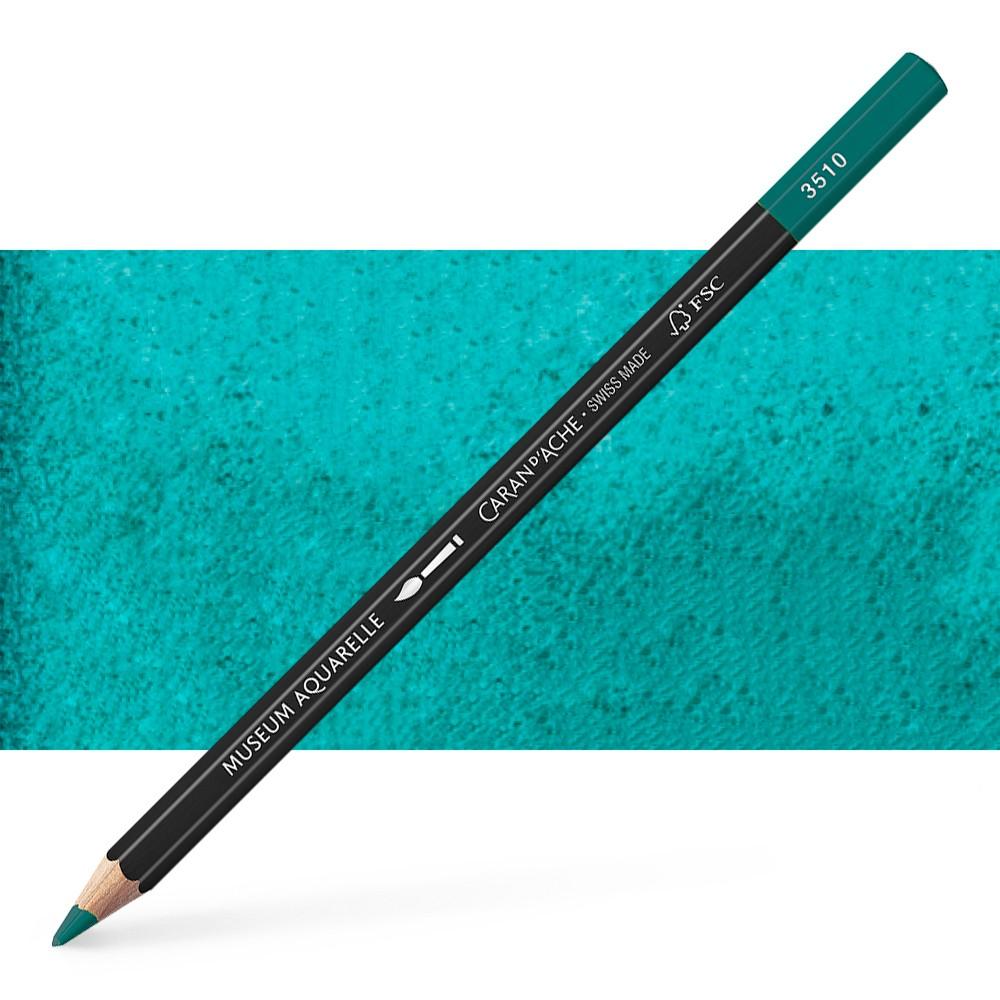 Caran d'Ache : Museum Aquarelle Pencil : Dark Sap Green