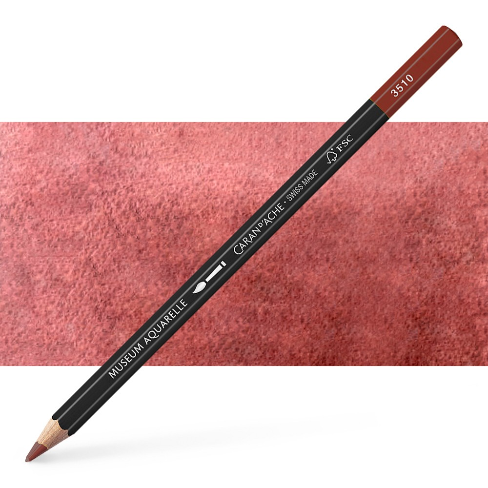 Caran d'Ache : Museum Aquarelle Pencil : Burnt Sienna 50%