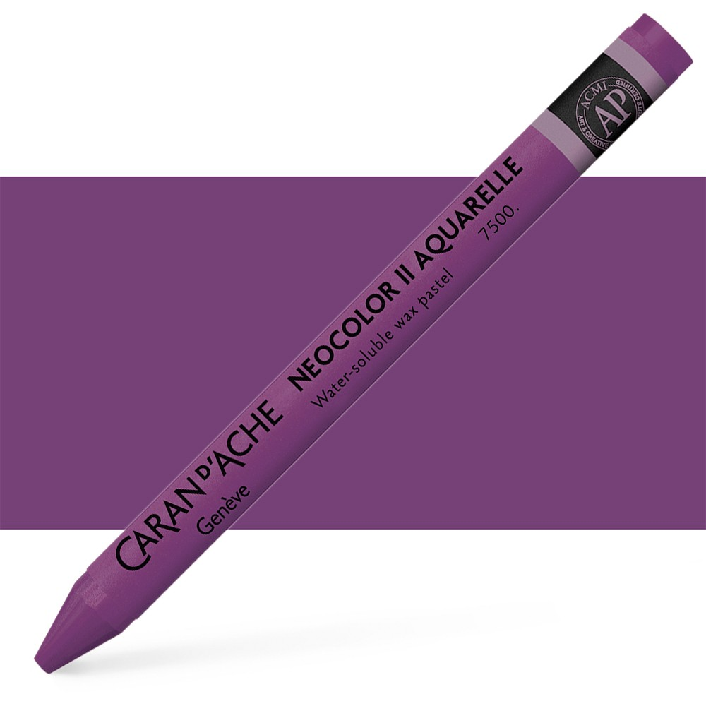 Caran d'Ache : Neocolor II : Watercolour Crayon : Aubergine