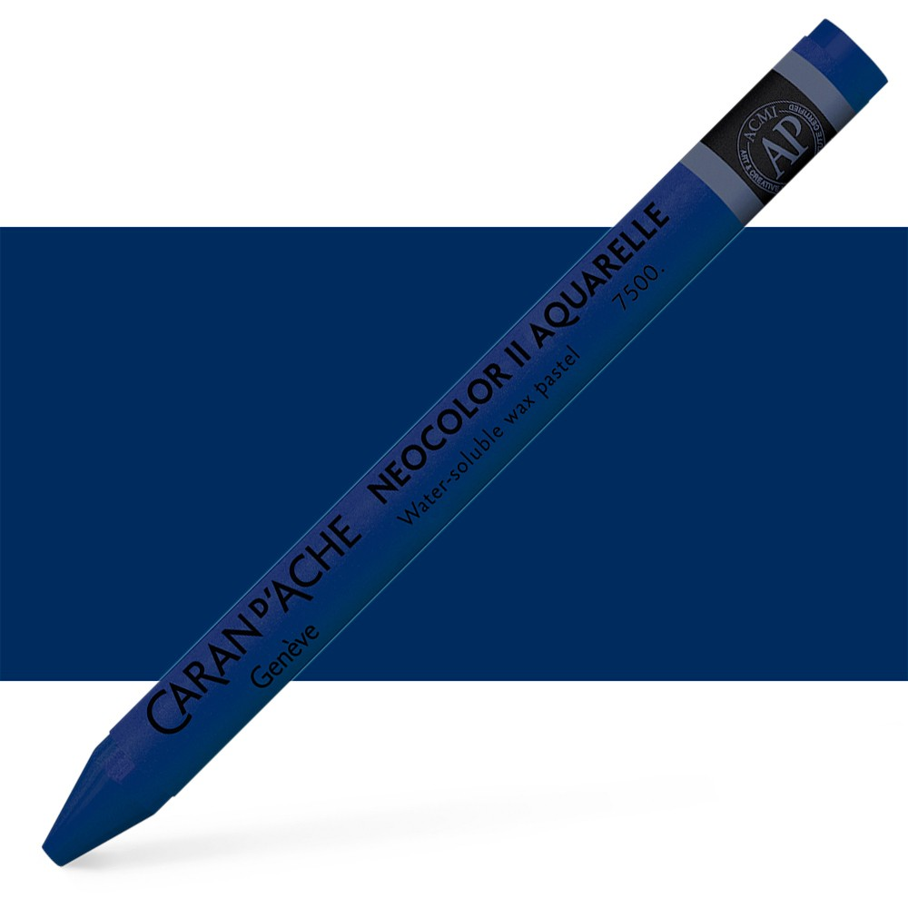 Caran d'Ache : Neocolor II : Watercolour Crayon : Indigo Blue
