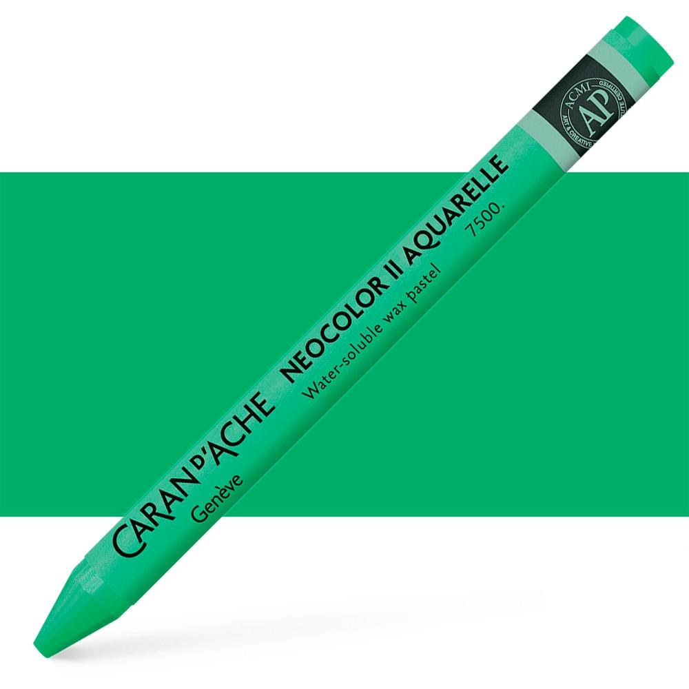 Caran d'Ache : Neocolor II : Watercolour Crayon : Veronese Green